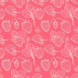 Erdbeere nahtlos Stockfotos