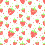 Erdbeere nahtlos Stockfotografie