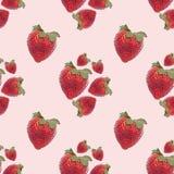 Erdbeere-nahtloses Hintergrund-Muster Lizenzfreie Stockfotografie