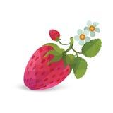 Erdbeere - Origamiart-Gegenstandillustration Lizenzfreies Stockbild