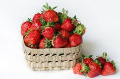 Erdbeere, rote Beere reif, wohlriechend, süß, geschmackvoll lizenzfreies stockbild