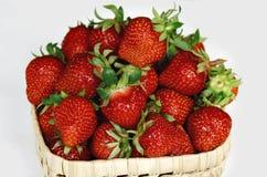 Erdbeere, rote Beere reif, wohlriechend, süß, geschmackvoll stockbilder