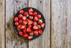 Erdbeere, süße Beere, reife Erdbeere, Aroma, saftige Beere, Stockfoto