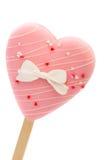 Erdbeere-, Schokoladen-, Vanille- und Pistazieeiscremekegel über weißem Hintergrund stockfotografie