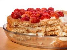 Erdbeere-Schwamm-Kuchen Lizenzfreies Stockfoto
