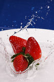 Erdbeere-Spritzen Stockbilder