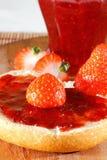 Erdbeere, Stau, Marmelade lizenzfreies stockbild