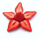 Erdbeere-Stern - im Weiß. stockfoto