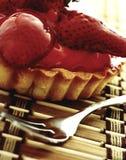Erdbeere-Törtchen Stockfoto