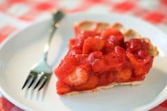 Erdbeere-Torte-Scheibe Stockbild