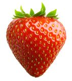 Erdbeere trennte Stockfotos