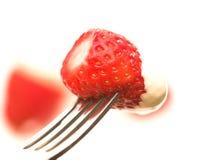 Erdbeere u. Sahne Lizenzfreie Stockfotografie