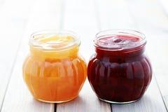 Erdbeere- und Aprikosenstörung Lizenzfreie Stockfotografie