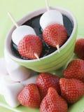 Erdbeere-und Eibisch-Steuerknüppel stockbilder