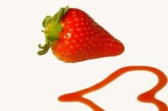 Erdbeere und Liebe Stockfotografie