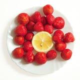 Erdbeere und Zitrone Stockbild