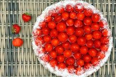 Erdbeere vlaai   Stockbilder