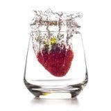 Erdbeere-vulcano Spritzen stockfotos
