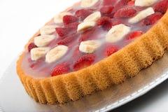 Erdbeerebanane torte Stockbild