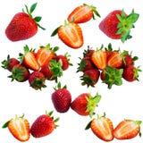 Erdbeerecollage stockfoto