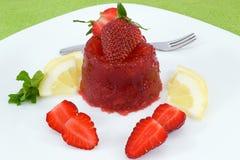 Erdbeeregelee Stockbild