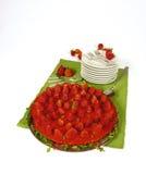 Erdbeerekäsekuchen stockfotografie