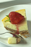 Erdbeerekäsekuchen Lizenzfreie Stockfotos