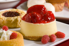 Erdbeerekäsekuchen Lizenzfreie Stockbilder
