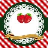 Erdbeerekennsatz Stockfoto