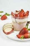 Erdbeerekrümel Stockfotos