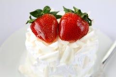 Erdbeerekuchen stockbild