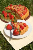 Erdbeerekuchen Stockfotografie