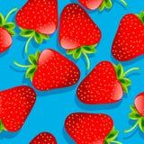 Erdbeeremuster Stockbilder