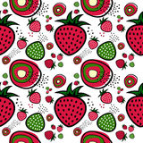 Erdbeeremustervektor Stockfoto