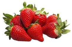 Erdbeeren auf einem weißen Hintergrund Stockbilder