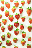Erdbeeren auf weißem backgroun Lizenzfreie Stockfotografie