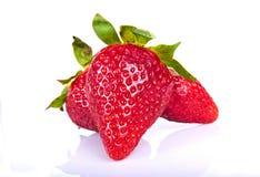Erdbeeren auf weißem Hintergrund Lizenzfreies Stockfoto
