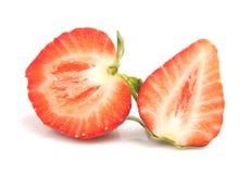 Erdbeeren beinahe eingeschnitten Lizenzfreie Stockfotos
