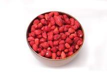 Erdbeeren in der hölzernen Schüssel Lizenzfreies Stockbild