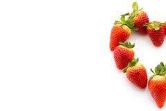 Erdbeeren in der Herzform Lizenzfreie Stockfotografie