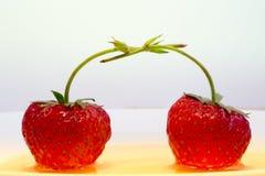 Erdbeeren in der Liebe Stockfoto