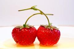 Erdbeeren in der Liebe Stockfotografie