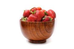 Erdbeeren in einer Schüssel Stockbild