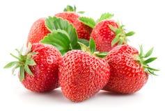Erdbeeren getrennt auf Weiß Lizenzfreies Stockfoto