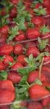 Erdbeeren im Basar stockfoto