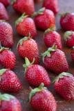 Erdbeeren reif auf einem rustikalen Rosthintergrund Lizenzfreie Stockfotografie