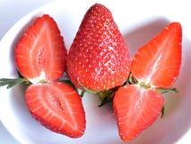 Erdbeeren, Stillleben lizenzfreies stockfoto