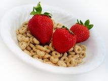 Erdbeeren und O II lizenzfreies stockbild
