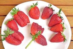 Erdbeeren und Orangen Lizenzfreie Stockfotos