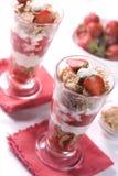 Erdbeerenachtisch Lizenzfreie Stockfotos